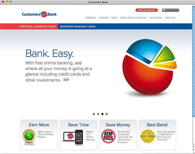Customers Bank home page