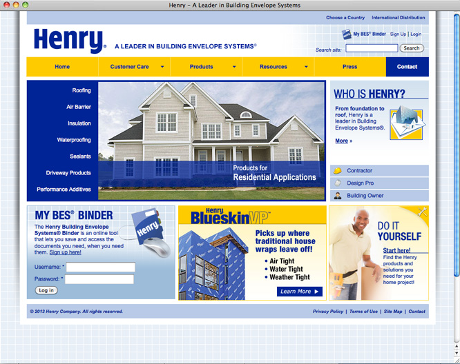 Henry home page