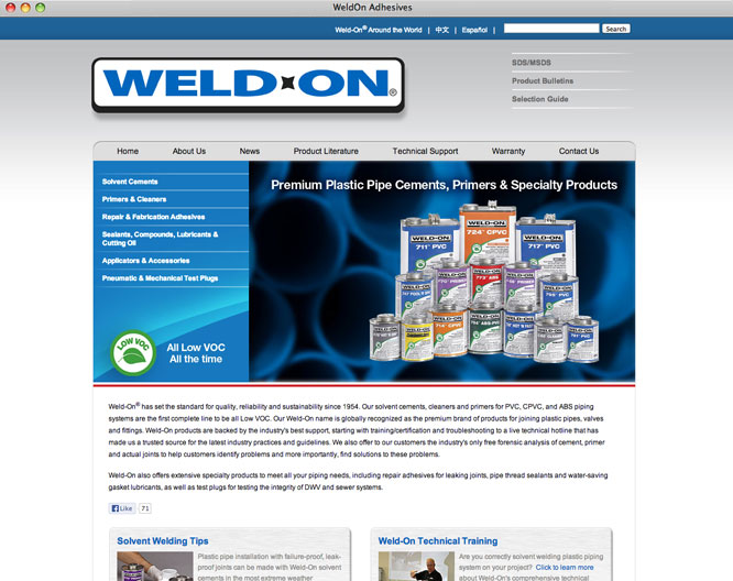 Weld-On home page